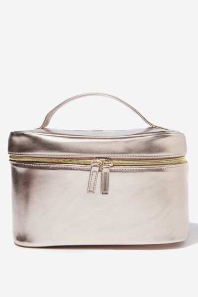 Large Structured Cosmetic Case, ROSE GOLD