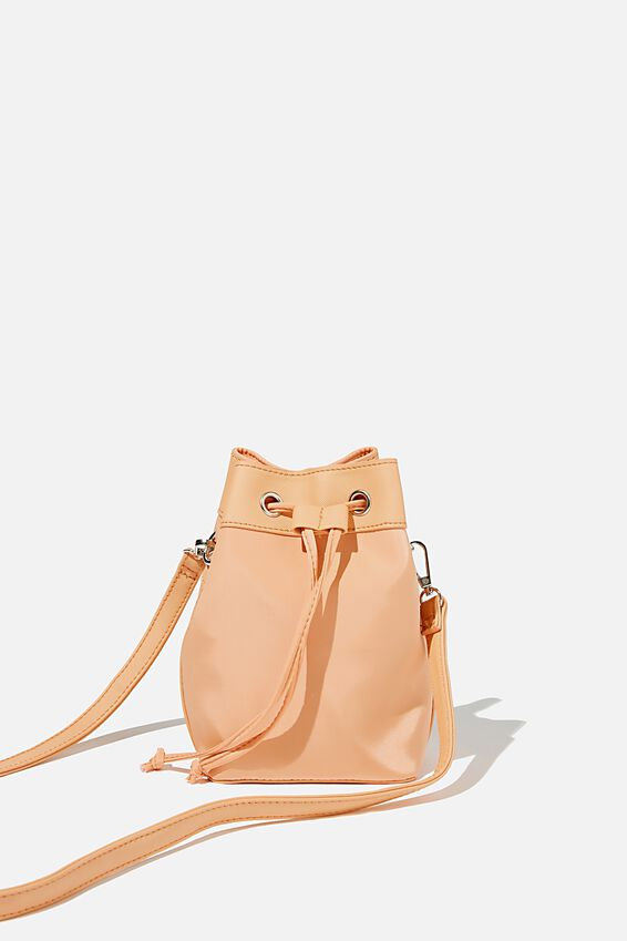 Nylon Bucket Bag, SUMMER MANGO