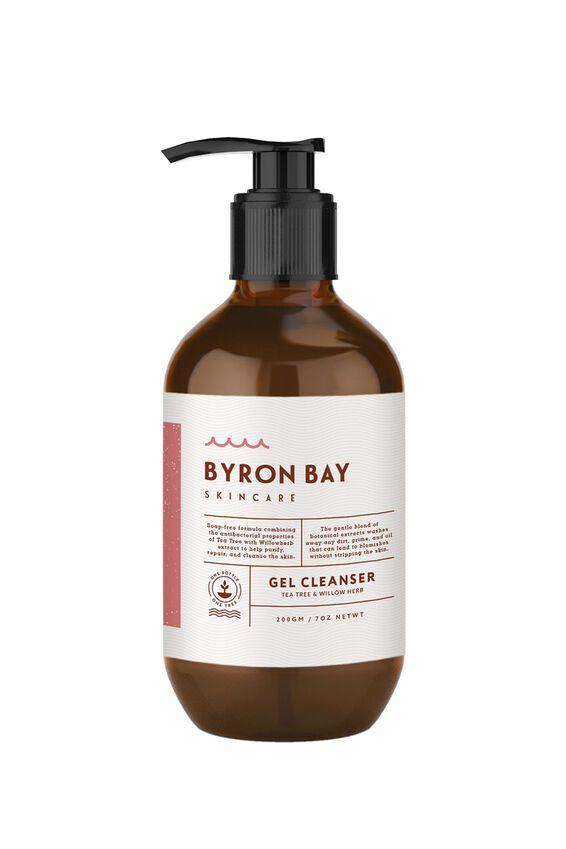Byron Bay Skincare Gel Cleanser, TEA TREE & WILLOW BARK