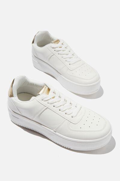 Alexa Platform Sneaker, WHITE GOLD
