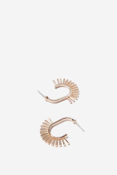 Solar Mystic Earrings, GOLD
