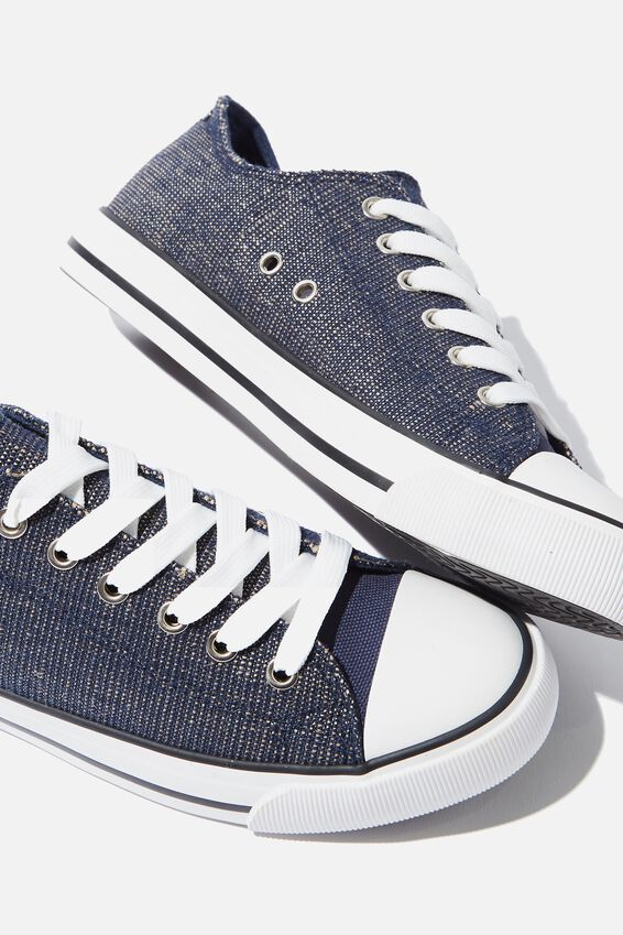 Jodi Low Rise Sneaker 1, NAVY METALLIC