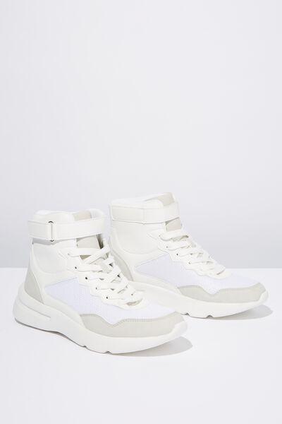 Zendaya High Top Sneaker, WHITE TONAL MULTI