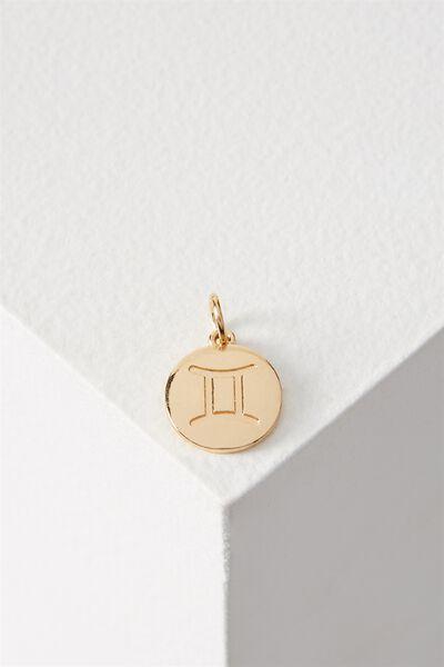 Zodiac Charm, GOLD GEMINI