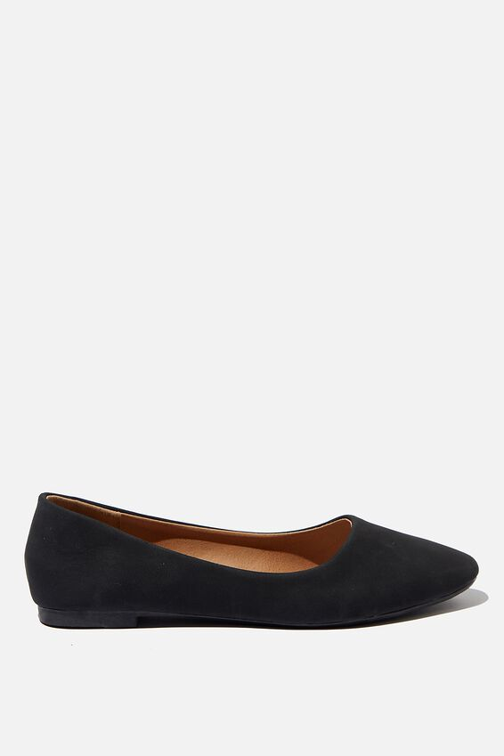 Essential Candice Ballet, BLACK NUBUCK