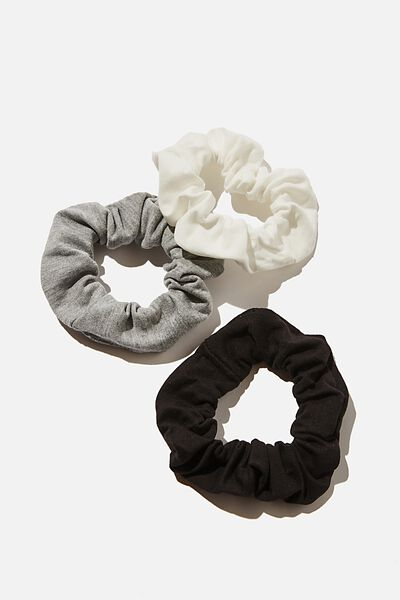3Pk Scrunchies, RECYCLED MONO