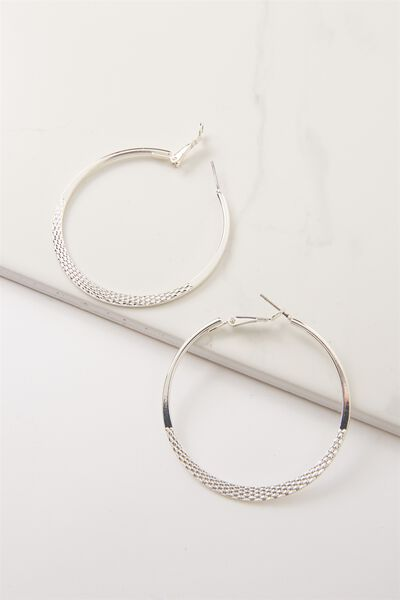 Nat Core Hoop Earring, SILVER
