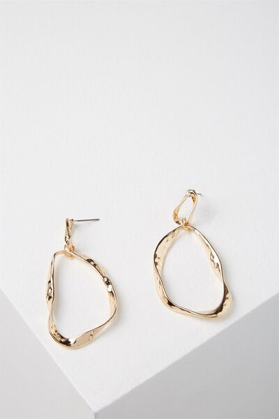 Waterloo Earring, GOLD