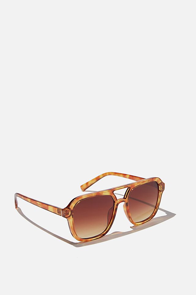 Jamie Aviator Sunglasses, AMBER TORT