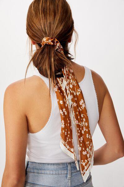 New York Convertible Scrunchie, GLAZED GINGER MILLIE FLORAL