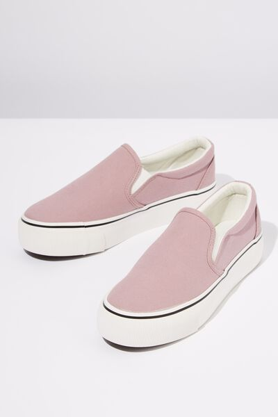 Jessie Platform Slip On, PALE LILAC CANVAS