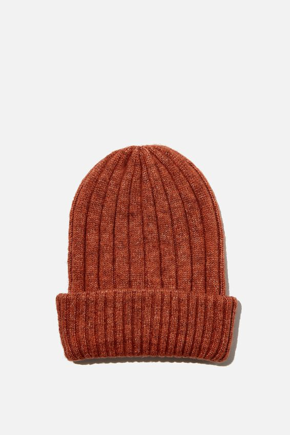 Willa Wide Rib Beanie, CHUTNEY