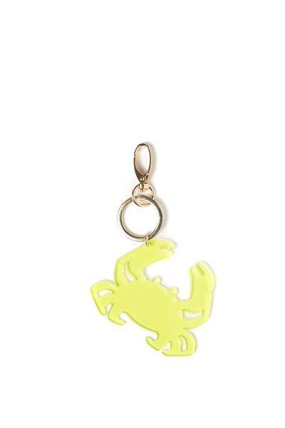 Crab Keyring, YELLOW/GOLD