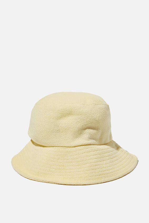Bianca Bucket Hat, LEMON TERRY