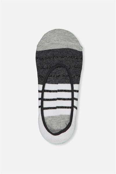 Sneaker Invisi Sock, PASTEL RAINBOW STRIPE