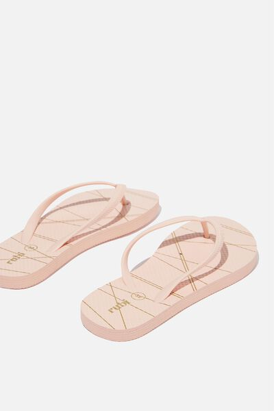 Rubi Thong, BLUSH METALLIC STRIPE