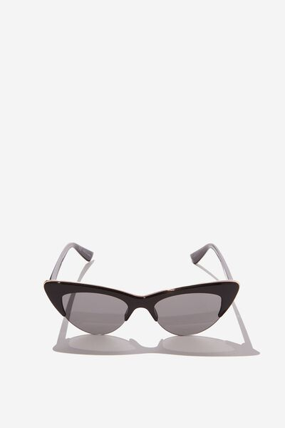 Gracie Cateye Sunglass, S.BLACK/GOLD