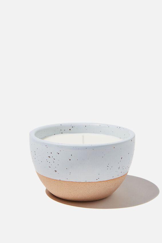 Stoneware Candle, BLUE
