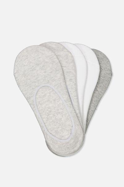 5Pk Low Cut Sock, GREY MIX