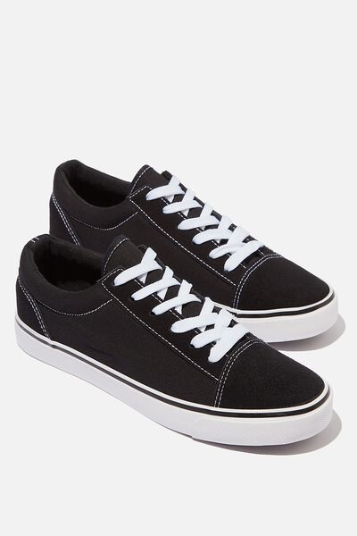 Joey Toe Cap Low Rise, BLACK TWILL
