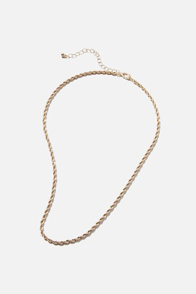 Treasures Single Chain Necklace, GOLD ROPE CHAIN