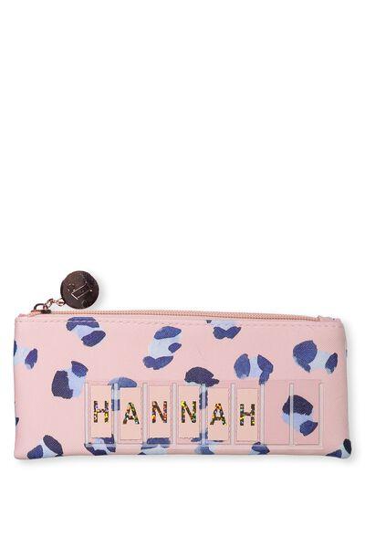 Personalised Mini Cosmetic Case, LEOPARD BLUSH