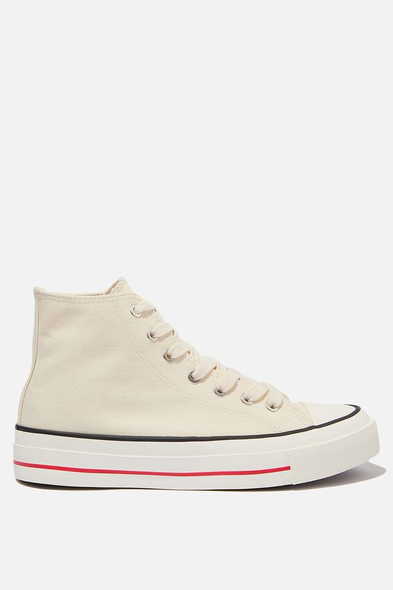 Britt Retro High Top, ECRU