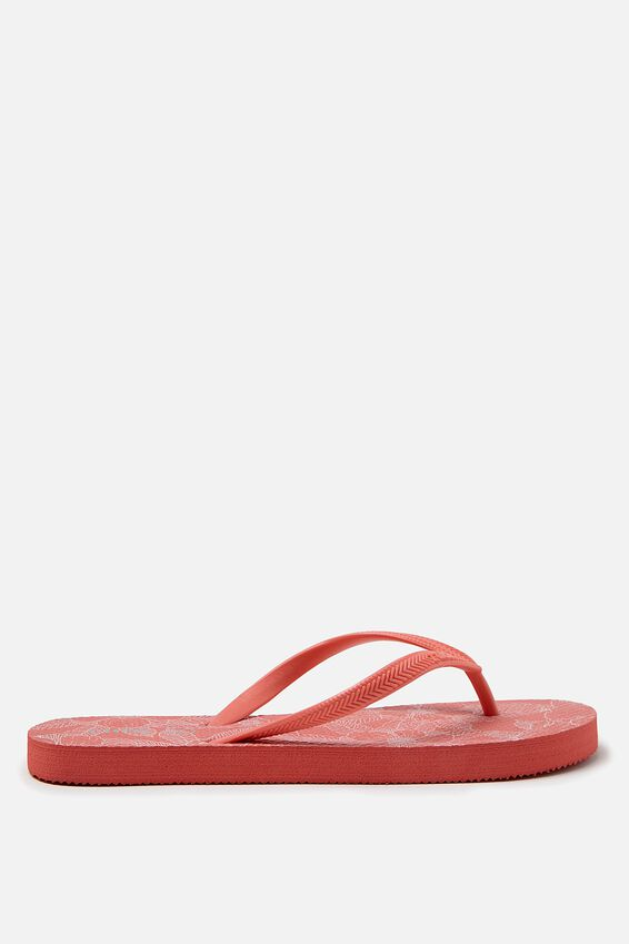 Rubi Thong, HOT CORAL LINEAR POPPY