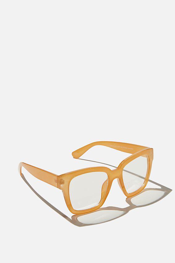 Emma Blue Light Blocking Glasses, MANGO CRYSTAL