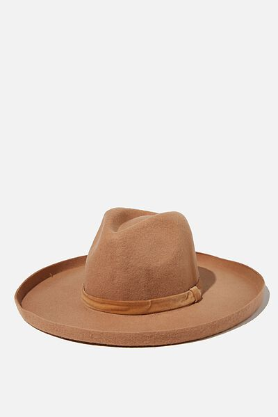 Andie Flipped Brim Rancher, TAN