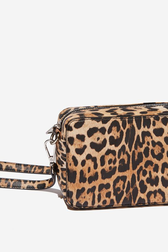 Stevie Boxy Cross Body Bag, LEOPARD