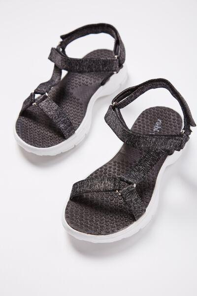 Ella Strappy Sandal, BLACK