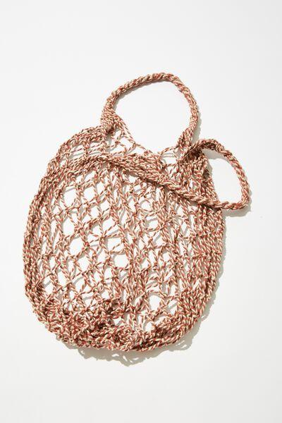Coc Market Bag, CORAL TWIST