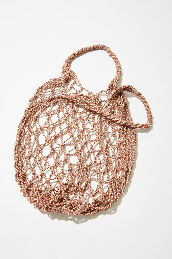Coc Market Bag, CORAL TWIST