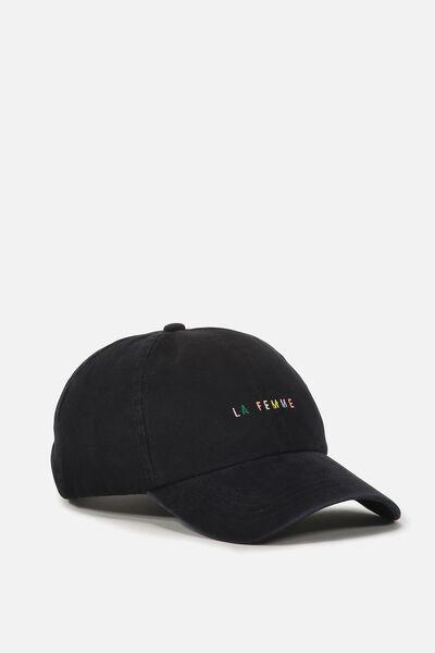 Kaia Cap, BLACK/LA FEMME