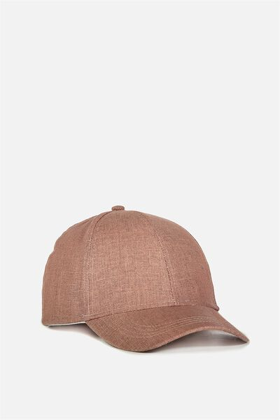 Nancy Cap, ANTIQUE MAUVE WOVEN