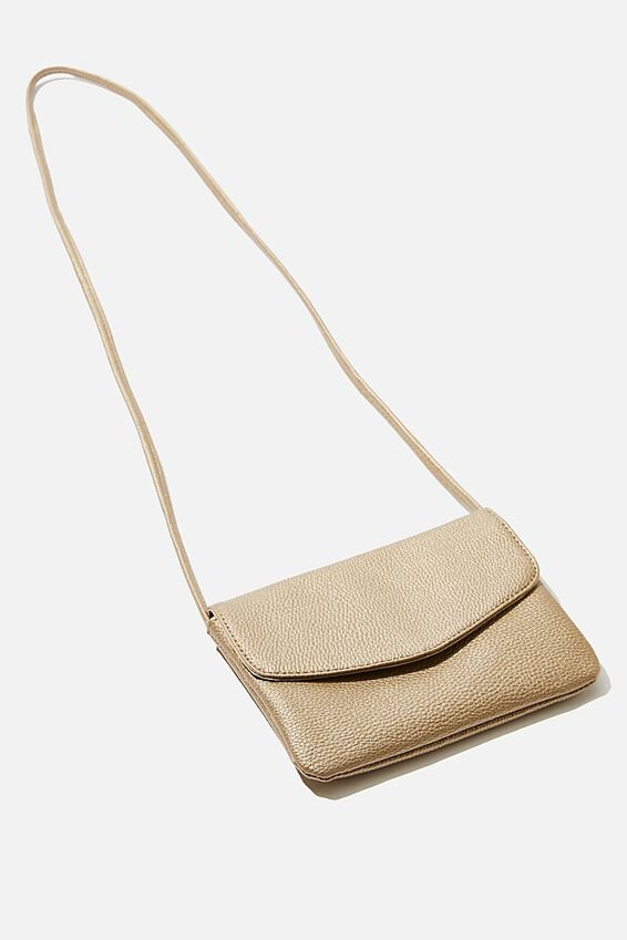 Mikaela Cross Body Bag, GOLD METALLIC