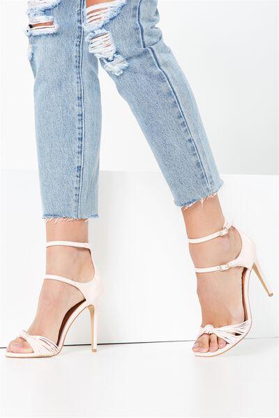Mimosa Strappy Stiletto Heel, BLUSH