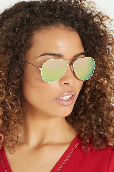 Belle Sunglasses, GOLD/PINK