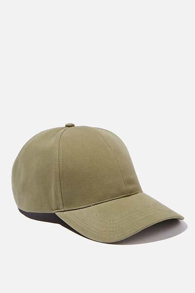 Selina Structured Cap, KHAKI/BE A NICE HUMAN