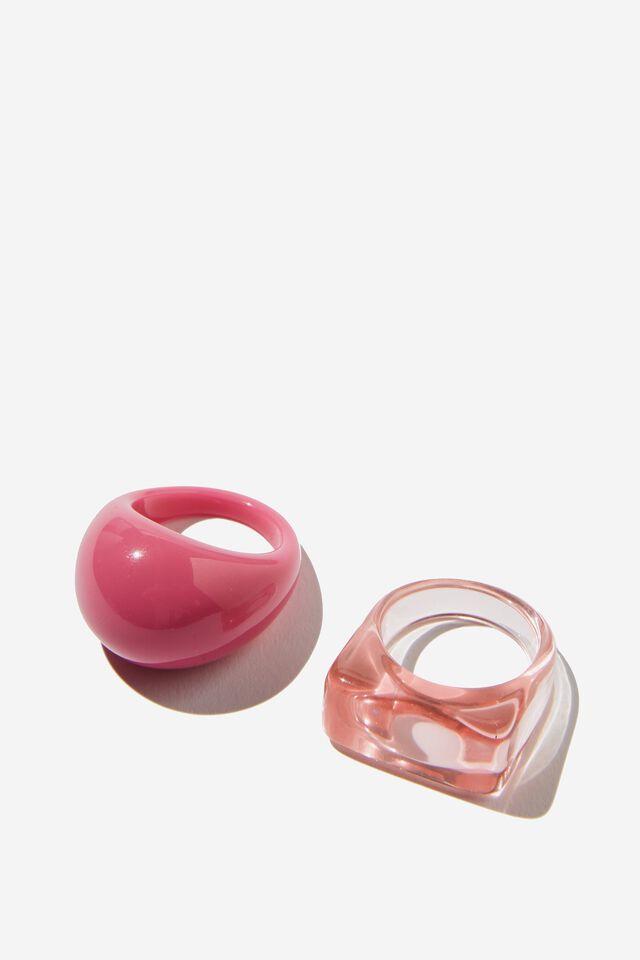 2Pk Bubble Rings, RETRO PINK