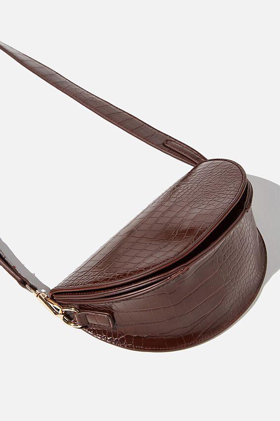 Georgie Cross Body Bag, CHOC TEXTURE
