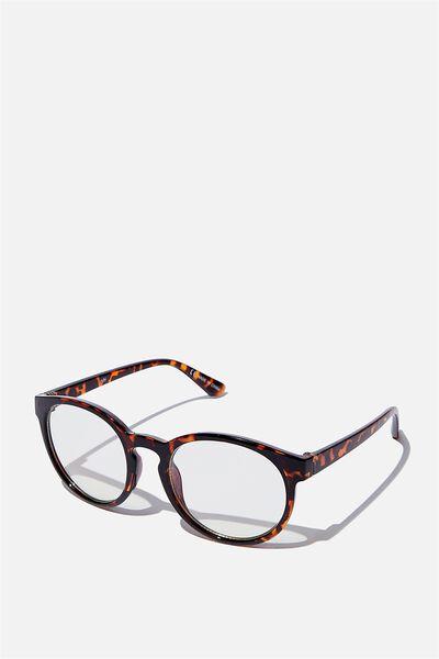Rollin Blue Light Blocking Glasses, TORT