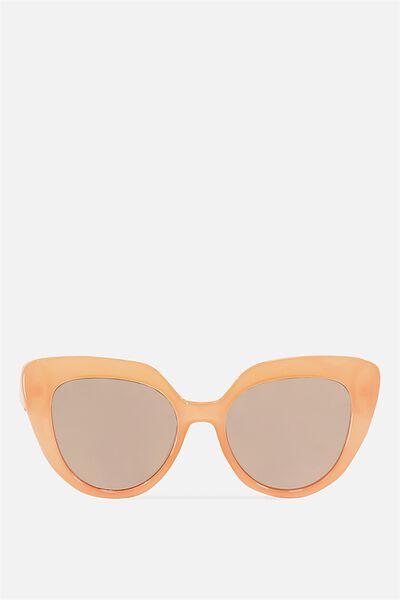 Violet Cateye Sunglasses, MILKY AUBURN