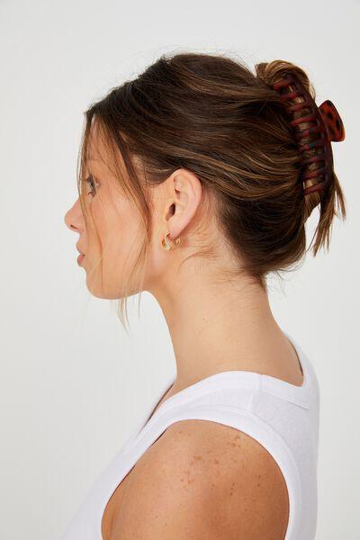 Rachel Hair Claw, MATTE TORT