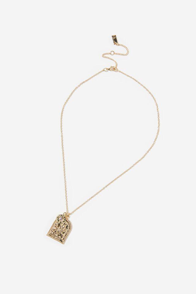 Premium Zodiac Necklace, GOLD PLATED GEMINI