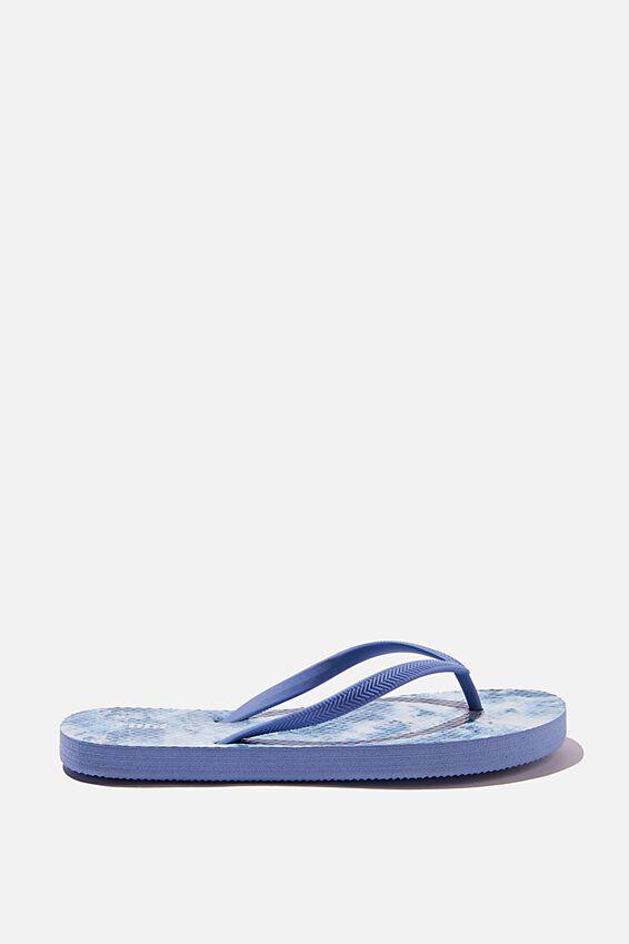 The Rubi Flip Flop, BLUE TIE DYE
