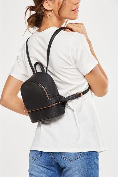 Mini Mia Backpack, BLACK