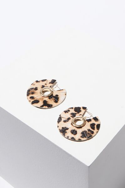 Blair Animal Earring, LEOPARD