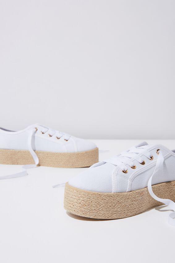 Willow Espadrille Sneaker, WHITE TWILL